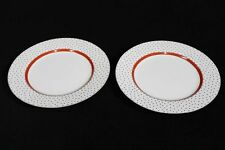 "Pair of Never Used Fitz & Floyd Dotted Suisse Chop Platters or Plates 12"" Across"