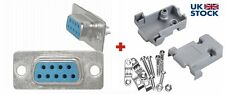 DB9 D Sub FEMALE D-Sub 9pin Connector Plug with Gray Hood-Shell