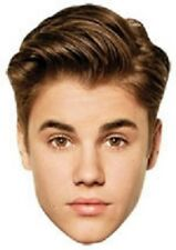 Justin Bieber Single 2D Card Fun Face Mask. Suitable for Parties and Events