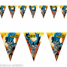 DC Comic BATMAN Gotham Hero Child's Party Pennant Flag Banner Bunting Decoration