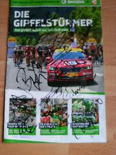Tour de France 2015 cuaderno con 19 original autógrafos Mollema clement ten dam ua.