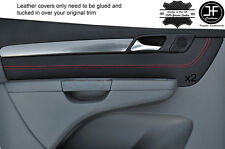 RED STITCH 2X FRONT DOOR CARD TRIM COVERS FITS VW SHARAN SEAT ALHAMBRA 10-16