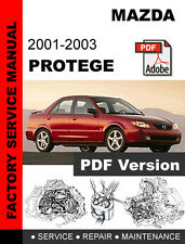 MAZDA 2001 2002 2003 PROTEGE FACTORY SERVICE REPAIR WORKSHOP FSM MANUAL