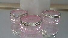 24 x Pink Tea light Holder with Metal Rim Vintage Style Wedding Table Decor