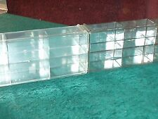 SET of 2 JOHNNY LIGHTNING 6 COMPARTMENT INTERLOCKING DISPLAY CASES 1/64th SCALE