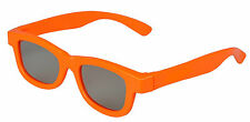 1 Pair of Orange 3d Glasses for kids children Universal for passive TVs Cinemas