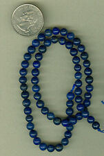 6MM ROUND STABILIZED LAPIS BEADS HIGH GRADE LAPIS ROUNDS DEEP RICH BLUE BEADS