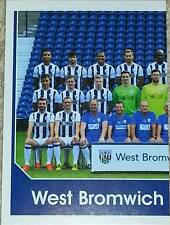 314 West, Brom Albion equipo izquierda 2016/2017 Topps Merlin Premier League Pegatina