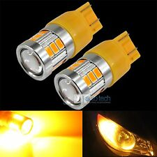 2X 7443 470 Lumen High Power LED Projector Amber/Yell​ow Turn Signal Light Bulbs