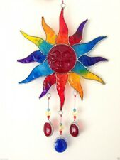 STAINED GLASS EFFECT SUN RAINBOW SUNCATCHER MOBILE CHAKRA GAY PRIDE REIKI