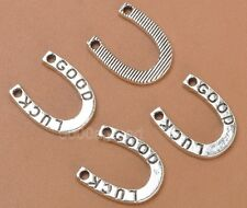 40pcs tibetan silver GOOD LUCK horseshoe beads Pendants Connector A3369