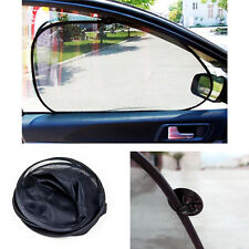 2X Foldable Car Side Rear Window Sun Shade Mesh Cover Suction Cups Protector