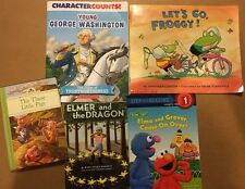 Lot Of 5 Used Children's Books Sesame Street Let's Go Froggy Little Pigs Elmer