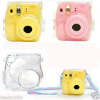 Luxury Hard Plastic Crystal Clear Case Cover For Fujifilm Instax Mini 8 Camera