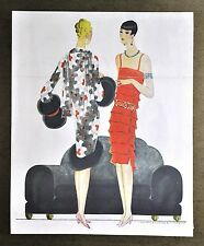 Annie Offterdinger Modezeichnung Fashion Illustration 30x42 20er Art Deco Paris