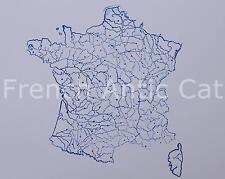 Tampon scolaire métal géographie France Fleuves rivières Département 19*14 AA026