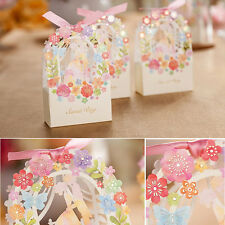 10X New Wedding Favours Candy Sweets Boxes Bags Table Decorations Spring Flower