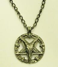 Baphomet Necklace & Chain Satanic Pendant Pentagram Pentacle LaVey Sigil Star