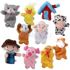 10pcs Old MacDonald Farm Animals Finger Puppets Soft Toy Baby Children Kids