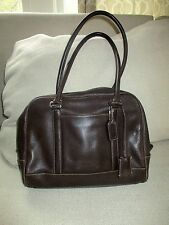 VTG COACH Dark brown Leather Hamptons Doctor's Shoulder Bag Satchel Purse 7786