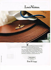 PUBLICITE ADVERTISING 084  1990  LOUIS VUITTON  bagages sacs & accessoires