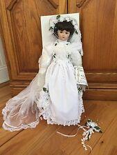 """Weldon Museum """"Michelle"""" Bride Porcelain Doll by Toby Siegel, # 620/1500, 19"""""""