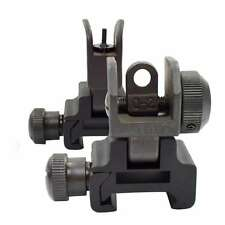 Ar Tactical Flip up Front Rear Iron Sight Sights Set Picatinny Rails Transition
