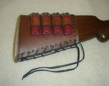 SASS leather 97 SHOTGUN  12 GA 4 loop buttstock cover (20 days to get done)