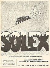 W9858 SOLEX a starter automatico - Pubblicità del 1934 - Old advertising