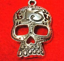 5Pcs. Tibetan Silver Large HALLOWEEN #13 SKULL Skeleton Charms Pendants HW06A
