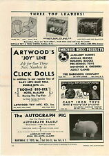 1942 PAPER AD Buffalo Toy & Tool Co Slot Machine Jack Pot Game Arithmetic