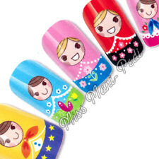 Nail Art Water Transfers Stickers Wraps Decals Russian Dolls Cute Fun  K177