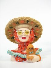 "Cameo Girls Head Vase Clarissa 1949 ""Fun in The Sun"" MIB FREE SHIPPING"