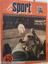 LO SPORT N 20 20 settembre 1951 Ascari trionfa a Monza Bruno Mazza Fangio Milan