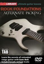 Lick Library Rock bases Sam Bell aprender riffs Alternativo recogiendo Guitarra Dvd