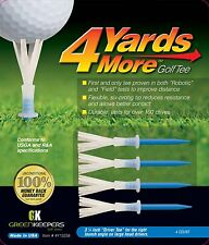 """NEW 4 Yards More Golf Tees 3 1/4"""" Blue """"Driver Tee"""" by Greenkeepers - Pack of 4"""