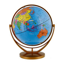 "8"" Inch (20cm) Blue Ocean Rotating Swivel and Tilt Desktop World Earth Globe"