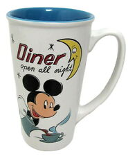 Walt Disney Mickey Mouse Diner Open All Night Tall Large Coffee Mug Disney Store