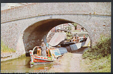 Canal Transport Postcard- Blue Line Carriers Butty Lucy Barge at Braunston BT119