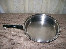 COOK-0-MATIC STAINLESS STEEL Skillet Fry pan 11 1/4 inches rim to rim
