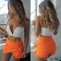 Womens Sexy Celeb Style Short Crop Top Fitted Clubbing Bustier Dress Boutique