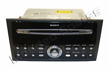 GENUINE FORD MONDEO MK3 SONY 6 CD PLAYER RADIO + CODE 2004 - 2007
