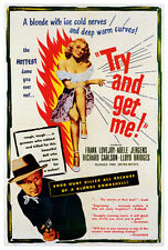 TRY AND GET ME! Movie POSTER 27x40 Frank Lovejoy Kathleen Ryan Richard Carlson