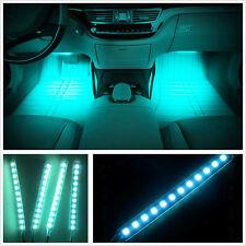 4 X 12 LED Ice-Blue Car FootWell Interior Trim Floor Decorative Atmosphere Light