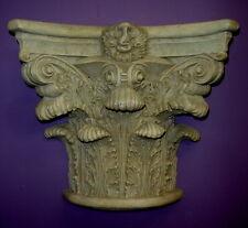 "16"" Large Corinthian Bracket Sconce Antique Finish Shelf Wall Sculpture 22051"