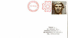 15 JUNE 1993 ROMAN BRITAIN COVER NPM MALTESE CROSS LONDON EC1 SHS (a)