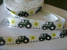 1m of 22mm g/grain ribbon like John Deere Green Tractor farm JD boy girl b