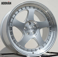 AODHAN AH01 18x9.5 5x100 +35 Silver (PAIR) wheels