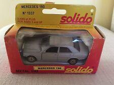 MODELLINO METALLO AUTO MERCEDES 190 - SOLIDO N° 1337 MODELLO  IN SCATOLA