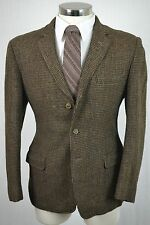 (40R) Vintage Harris Tweed Men's Brown Fleck Wool Blazer Sport Coat Jacket